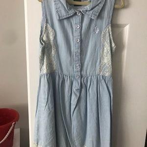 Girls U.S. Polo Assoc. Dress Size 8